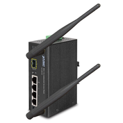 IAP-2001PE - Planet Industrial 802.11n Wireless AP / Fibre Router 4-Port 10/100Base-TX Ports with 1-Port PoE (Powered Device), 1x 100Base-FX SFP Slot Wide Operating Temperature (-10 to 60 degrees C) - Industrial Wireless