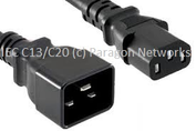 Custom Made - IEC Female (C13) - IEC Male (C20) Power Extension Cable - Custom Made IEC Jumper and UK Mains Leads