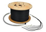 Pre Terminated Corrugated Steel Tape Armoured 50/125 OM3 Multimode Fibre Cable - Corrugated Steel Tape Armoured